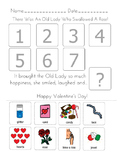 """""""There Was an Old Lady Who Swallowed A Rose"""" Sequencing Worksheet"""