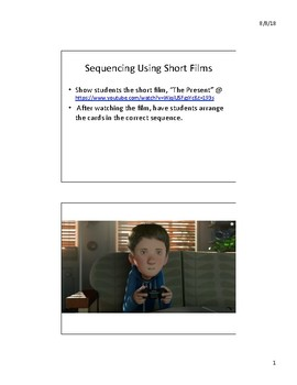 """Sequencing Using Short Films - """"The Present"""""""