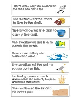 Sequencing with There Was an Old Lady Who Swallowed a Shell