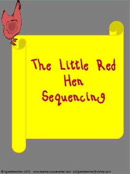 "Sequencing with ""The Little Red Hen"""