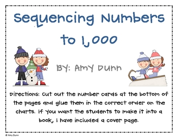 Sequencing/Counting Numbers to 1,000 *Winter Version* {Common Core}