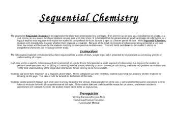 PowerPoint Edition of Chemical Equations:  An Introduction