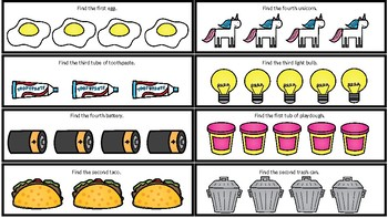Sequential Concepts Strips: 1st, 2nd, 3rd, 4th, First/Last, Beginning/End