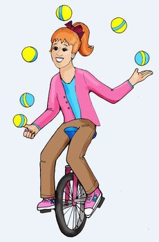 Clip Art: Bicycles, Bikes, Juggling and Learning Levels by HeatherSArtwork