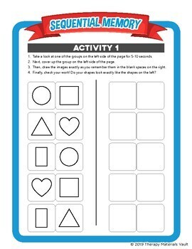 Occupational Therapy: Sequential Memory Activities