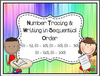 Sequential Number Writing (1-5) (1-10) (1-20) (1-30) (1-50) (0-100)