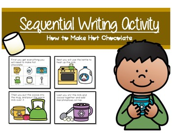 Sequential Writing Activity - How to make hot chocolate