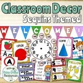 Sequins Theme Classroom Decor bundle