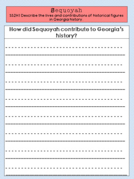 Sequoyah Graphic Organizer Set