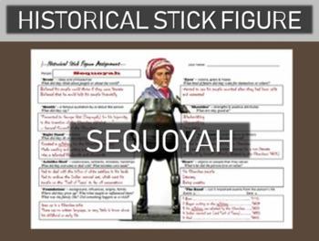 Sequoyah Historical Stick Figure (Mini-biography)