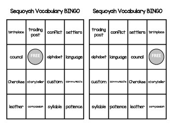 Sequoyah Vocabulary Pack