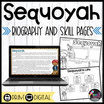 Sequoyah: biography and timeline with text-based questions