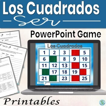 Ser 25 Questions Game - Spanish (will customize)