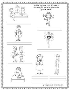 Ser Doodle Pages Worksheets Notes Spanish First Verbs