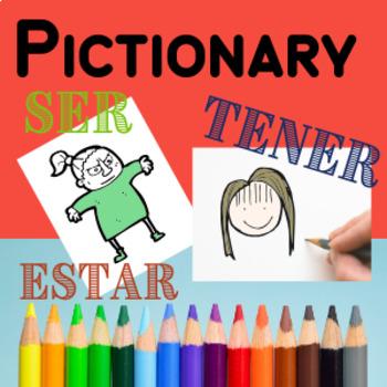 Ser Estar Tener Adjectives Game Activity Pictionary Spanish
