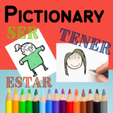Ser Estar Tener Adjectives Game Activity Pictionary Spanish
