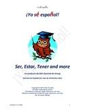 Spanish Estar, Ser, Tener and more