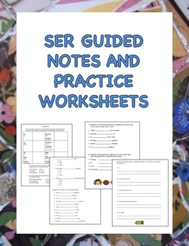 Ser Guided Notes and Practice Includes Descriptive Adjective Activities