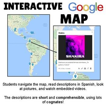 Ser De and Origin Online Interactive Map Activity
