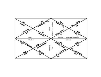 Ser VS Estar Triangle Puzzle