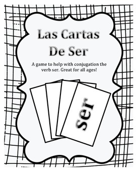 Ser Verb Card Game