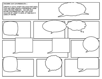 Ser Vs Estar Cartoon Activities