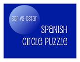 Ser Vs Estar Circle Puzzle