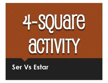 Ser Vs Estar Four Square Activity