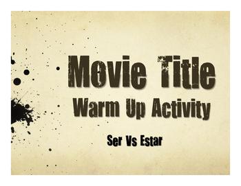 Ser Vs Estar Movie Titles