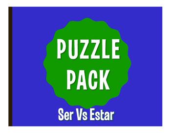Ser Vs Estar Puzzle Pack