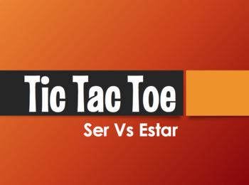 Ser Vs Estar Tic Tac Toe Partner Game