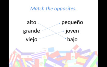 Ser and Adjectives Review Game