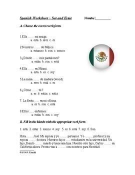 Spanish Grammar Bundle ~ Ser and Estar