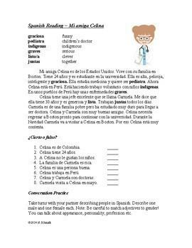 Ser and Estar Bundle - Reading, Worksheet and Task Cards!