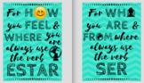 Ser and Estar Posters (18 x 24)