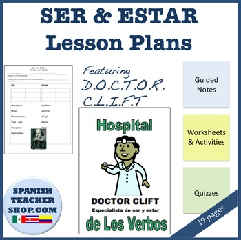 Ser and Estar Unit Lesson Plan Packet: Spanish (19 pages) Editable