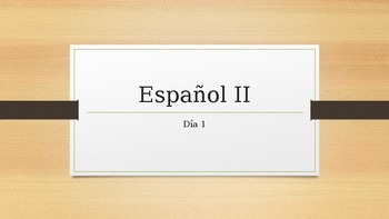 Ser and Estar explained and day one review of Spansih I