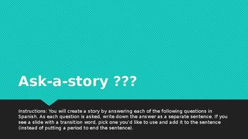 Ser, estar, gustar ask-a-story activity
