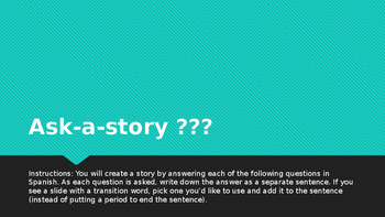 Ser, estar, gustar ask-a-story activity