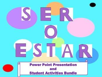 Ser o Estar Presentation and student activities bundle
