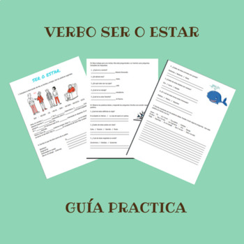 Ser o estar práctica / verb to be practice in spanish