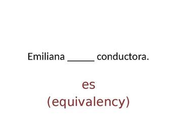 Ser or Estar Grammar Whiteboard Practice