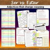 Ser vs. Estar: Adjectives that change meaning + exercises