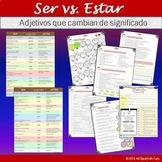 Ser vs. Estar: Adjetivos que cambian de significado + ejercicios