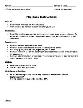 Ser vs. Estar Flip Book Review