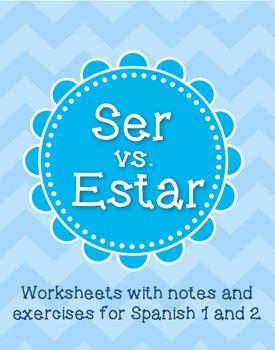 Ser vs Estar - Grammar worksheet for Spanish levels 1-2