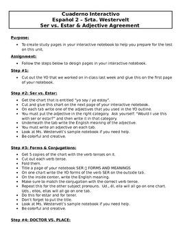 Ser vs. Estar Interactive Notebook