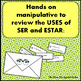 Ser vs. Estar Manipulative, Preterite Review / Practice