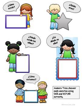Ser vs. Estar Mini-Activity Worksheets