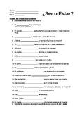 Ser vs Estar Quiz / Practice